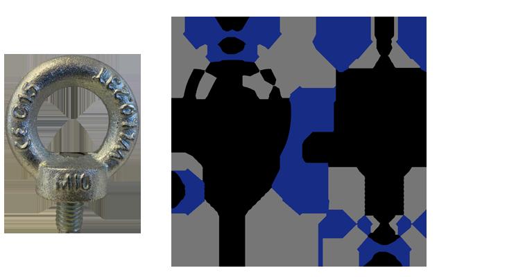 Parafuso Olhal de suspensão tipo parafuso métrico